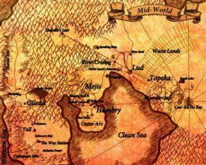 Delfos, A Torre Negra, Mapa
