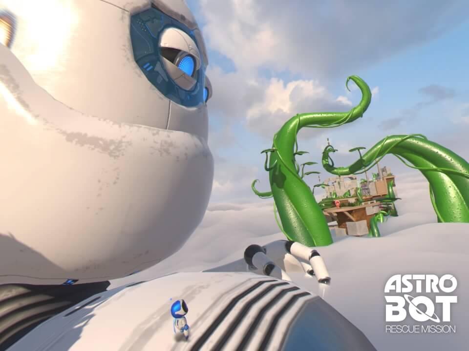 Astro Bot Rescue Mission, PS VR, Delfos