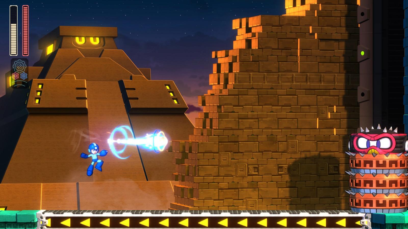 Mega Man 11 fase do Block Man sub-chefe parte 2
