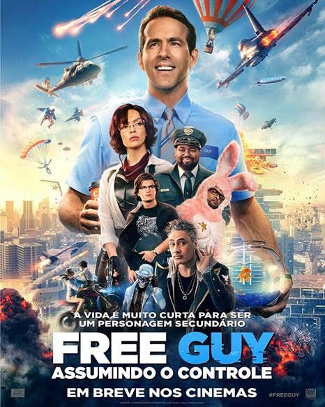 Crítica Free Guy, Free Guy, Ryan Reynolds, Jodie Comer, Taika Waititi, Fox, Delfos