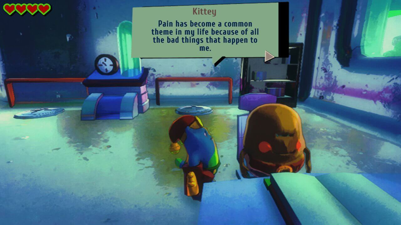 Heart Chain Kitty, Origami Hero, Delfos, Plataforma, Plataforma 3D